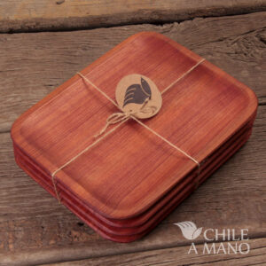 plato madera rauli
